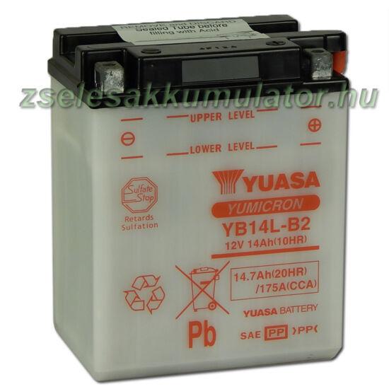 Yuasa YB14L-B2 12V 14Ah Motor akkumulátor