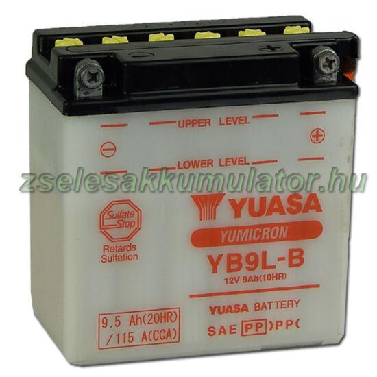 Yuasa YB9L-B 12V 9Ah Motor akkumulátor