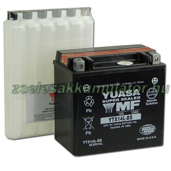 Yuasa YTX14L-BS 12V 12Ah gondozásmentes AGM (zselés) motor akkumulátor