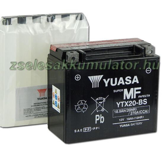 Yuasa YTX20-BS 12V 18Ah gondozásmentes AGM (zselés) motor akkumulátor