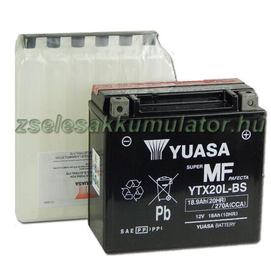 Yuasa YTX20L-BS 12V 18Ah gondozásmentes AGM (zselés) motor akkumulátor