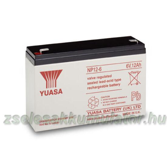 Yuasa 6V 12Ah Zselés akkumulátor