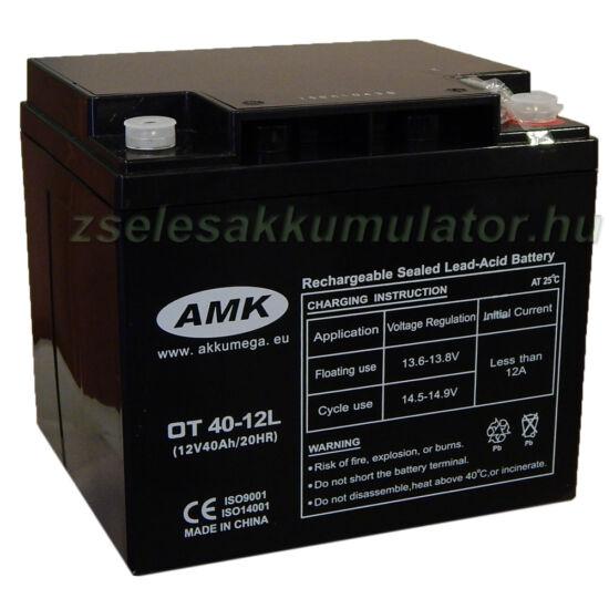 AMK 12V 40Ah Zselés Ciklikus Akkumulátor OT40-12L