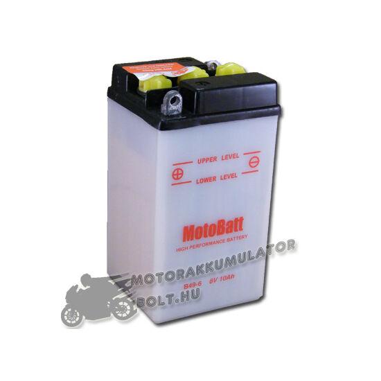 MotoBatt  B49-6 6V 10Ah Motor akkumulátor