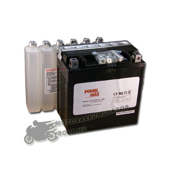 Power Max GTX20CH-BS 12V 18Ah Motor akkumulátor
