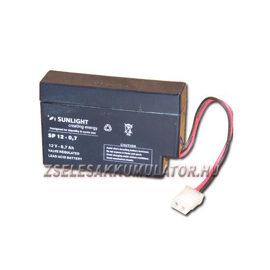 Sunlight 12V 0,8Ah-0,7Ah Zselés akkumulátor