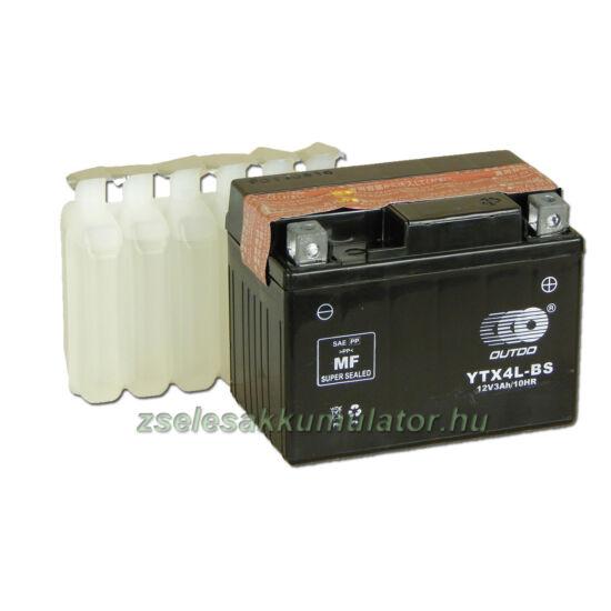 OUTDO YTX4L-BS 12V 3Ah Motor akkumulátor