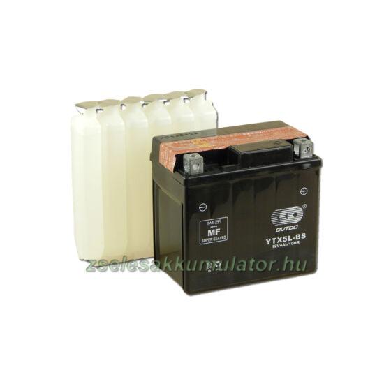 OUTDO YTX5L-BS 12V 4Ah Motor akkumulátor