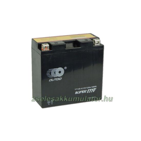 OUTDO YT14B-BS 12V 12Ah Motor akkumulátor