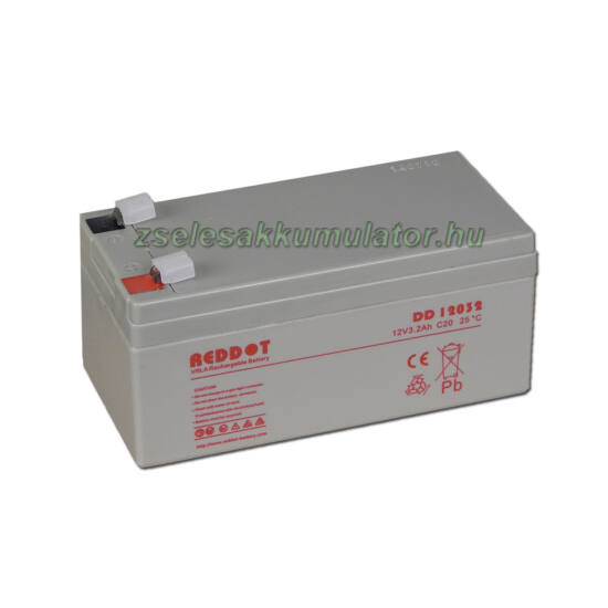 Reddot 12V 3,2Ah Zselés akkumulátor
