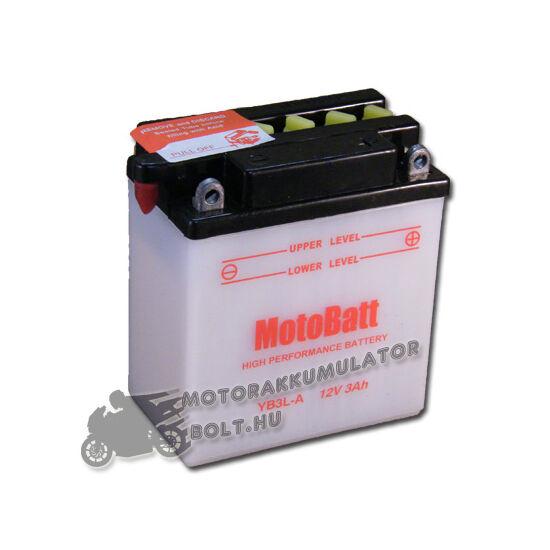 MotoBatt YB3L-A 12V 3Ah Motor akkumulátor