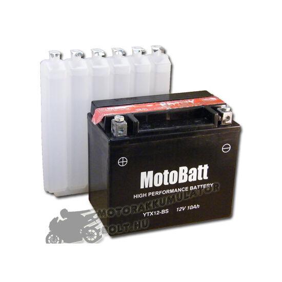 MotoBatt YTX12-BS 12V 10Ah Motor akkumulátor