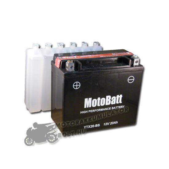 MotoBatt YTX20-BS 12V 18Ah Motor akkumulátor