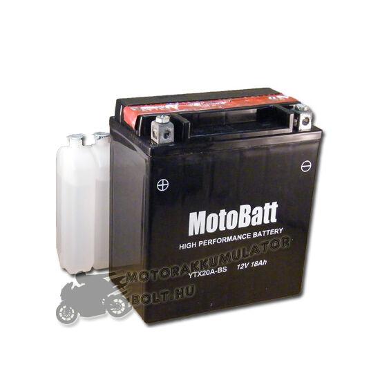 MotoBatt YTX20A-BS 12V 18Ah Motor akkumulátor