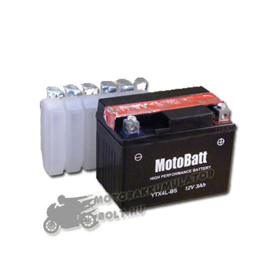 MotoBatt YTX4L-BS 12V 3Ah Motor akkumulátor