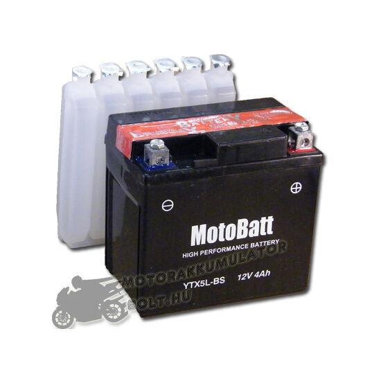 MotoBatt YTX5L-BS 12V 4Ah Motor akkumulátor