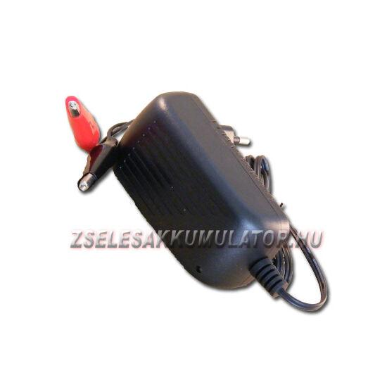 Zselés akkumulátor töltő 12V 0,5A töltőáram