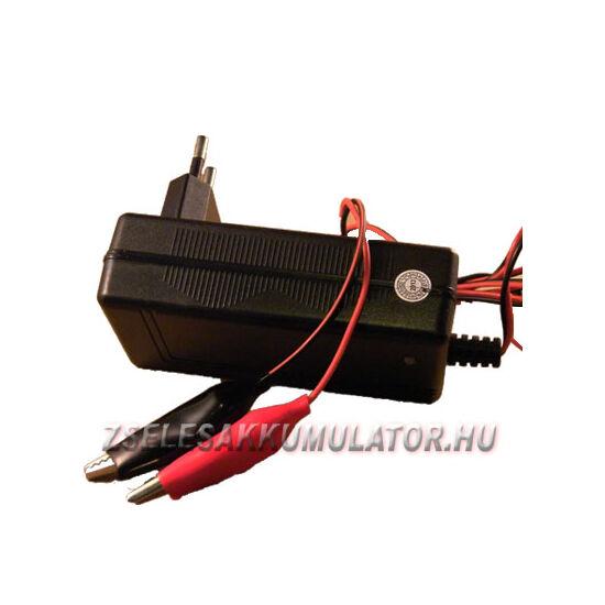Zselés akkumulátor töltő 12V 1,8A töltőáram