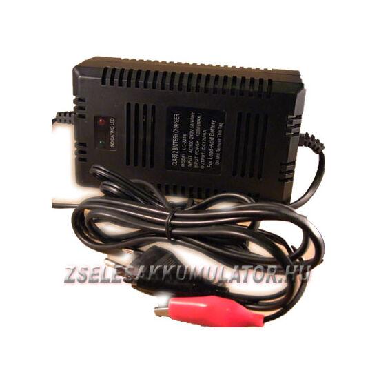 Zselés akkumulátor töltő 12V 5A töltőáram