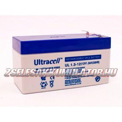 Ultracell 12V 1,3Ah Zselés akkumulátor