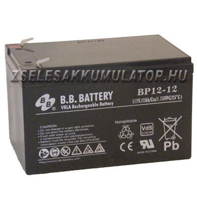 BB Battery 12V 12Ah (6-dzm-12) Ciklikus zselés akkumulátor elektromos kerékpárba