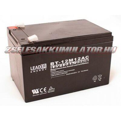 Leader 12V 12Ah Zselés akkumulátor