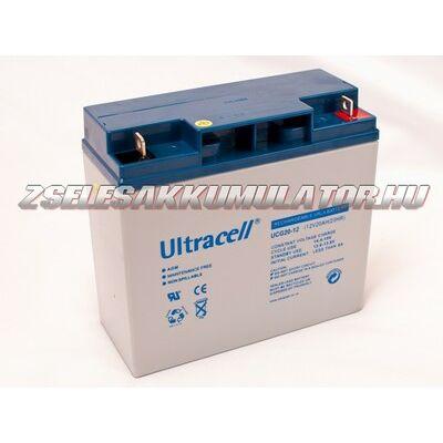 Ultracell 12V 18Ah Zselés akkumulátor
