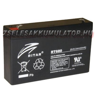 Ritar 6V 8Ah Zselés akkumulátor