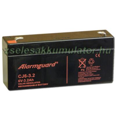 Alarmguard 6V 3,2Ah Zselés akkumulátor CJ 6-3,2