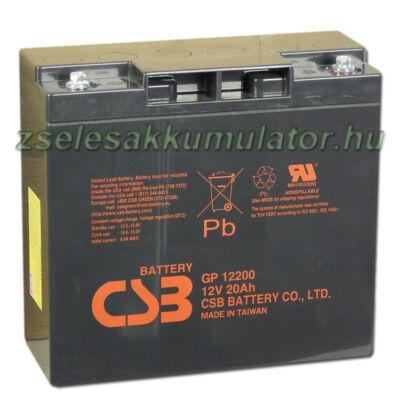 CSB 12V 20Ah Zselés Akkumulátor GP 12200