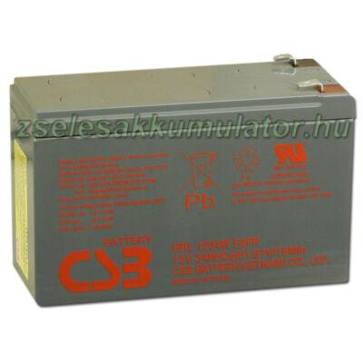 CSB 12V 9Ah Zselés Akkumulátor HRL 1234W F2