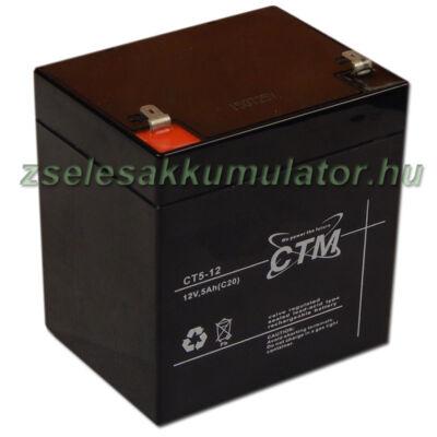 CTM 12V 5Ah Zselés akkumulátor