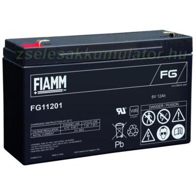 6V 12Ah fiamm zselés akkumlátor FG11201
