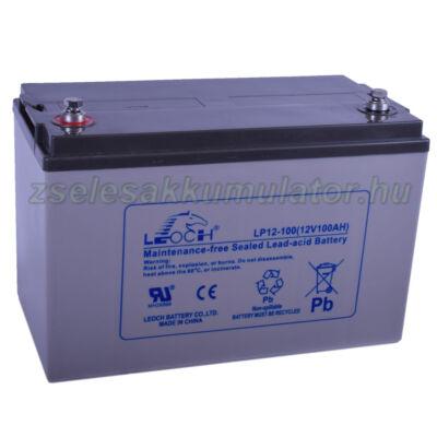 Leoch 12V 100Ah Zselés akkumulátor LP12-100