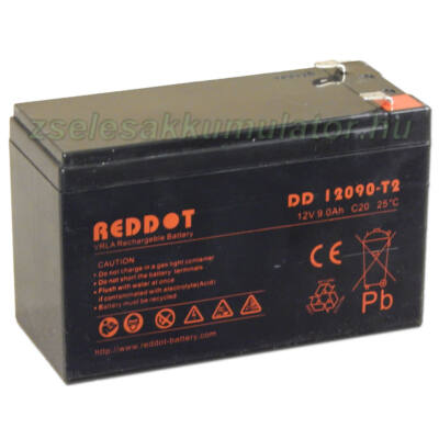 RedDot 12V 9Ah Zselés akkumulátor T2