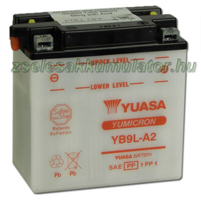 Yuasa YB9L-A2 12V 9Ah Motor akkumulátor