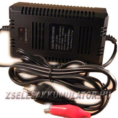 Zselés akkumulátor töltő 12V 10A töltőáram