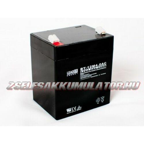 Leader 12V 4Ah Zselés akkumulátor
