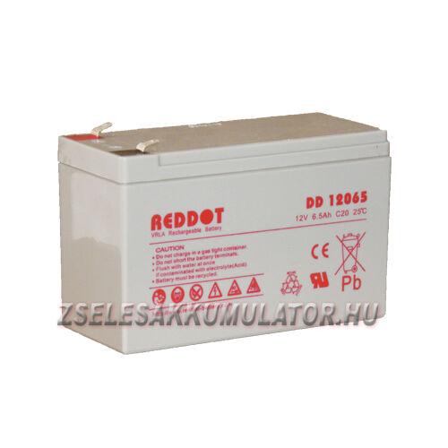 RedDot 12V 6,5Ah Zselés akkumulátor