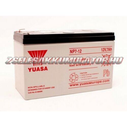 Yuasa 12V 7Ah Zselés akkumulátor