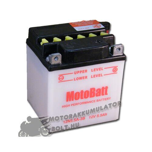 MotoBatt 12N5,5A-3B 12V 5,5Ah Motor akkumulátor sav nélkül