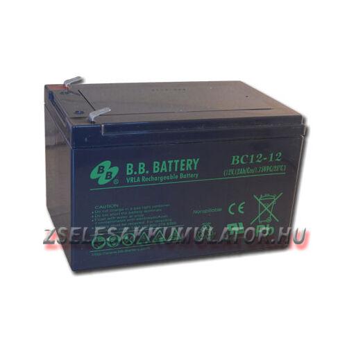 BB Battery 12V 12Ah Zselés akkumulátor BC12-12