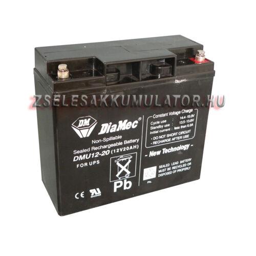 Diamec 12V 20Ah zselés akkumulátor