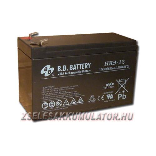 BB Battery 12V 9Ah Zselés akkumulátor HR9-12