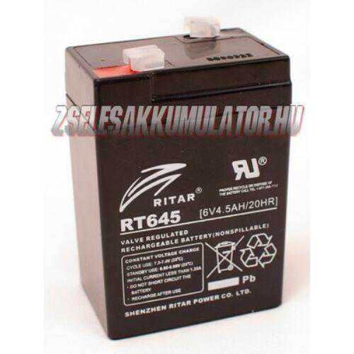 Ritar 6V 4,5Ah Zselés akkumulátor