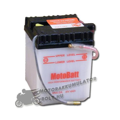MotoBatt  6N4-2A 6V 4Ah Motor akkumulátor sav nélkül