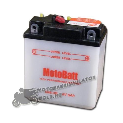 MotoBatt 6N6-3B 6V 6Ah Motor akkumulátor