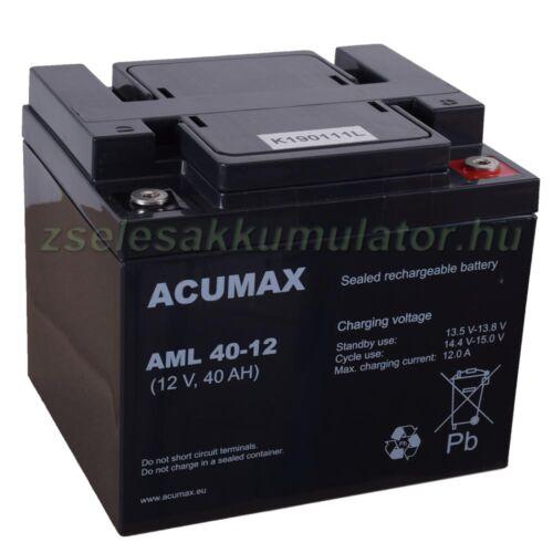 Acumax ALM40-12 12V 40Ah longlife zselés akkumulátor