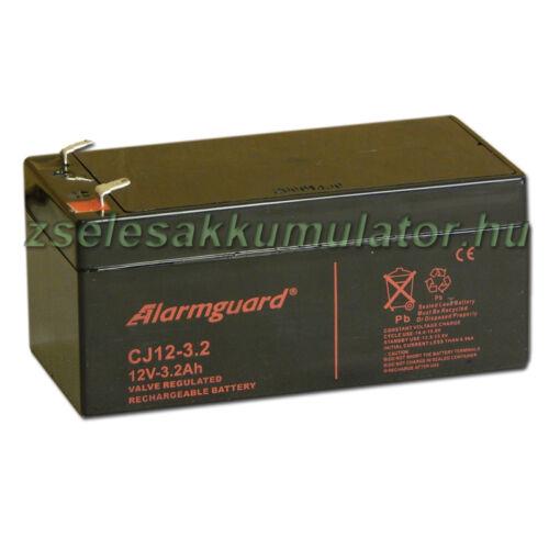 Alarmguard 12V 3,2Ah Zselés akkumulátor CJ 12-3,2