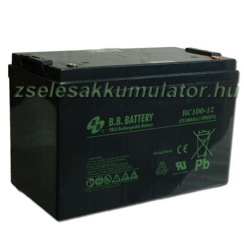 BB Battery 12V 100Ah Zselés akkumulátor BC100-12 inverterhez akciós